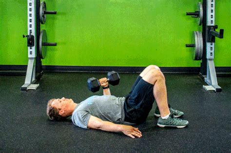 Dumbbell Floor Press by A Killer Workout For The Floor Livestrong