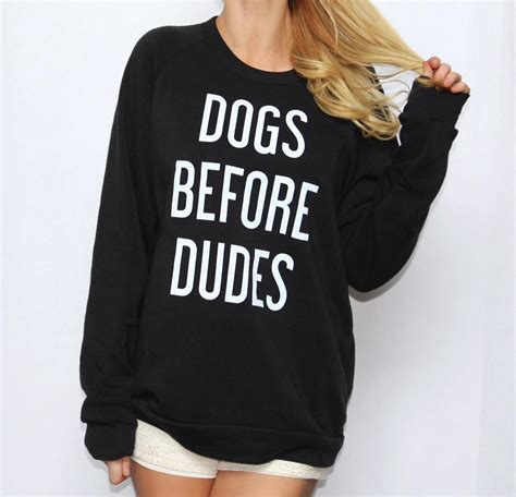 dogs before dudes dogs before dudes eco fleece pullover from the tree kisser