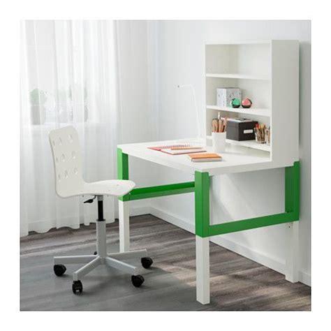 desk add on shelf p 197 hl desk with add on unit white green desks shelves