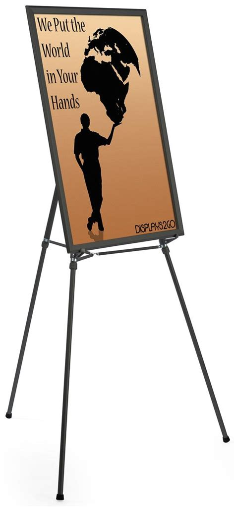 Tripod Frame Foto black easel stand with 24 x 36 snap frame