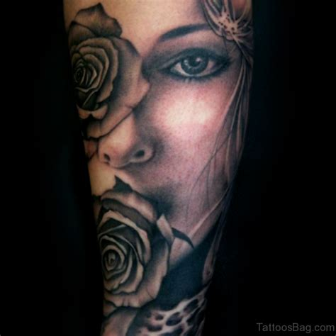 black and grey face tattoo 50 mind blowing portrait tattoos on arm