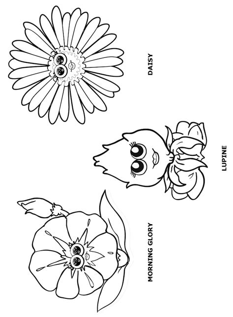 Flower Friends Coloring Page 1 Makingfriendsmakingfriends Scout Flower Garden Coloring Pages Free