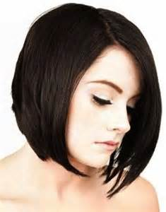 center part bob hairstyle short hairstyles and cuts angled bob cut with center part