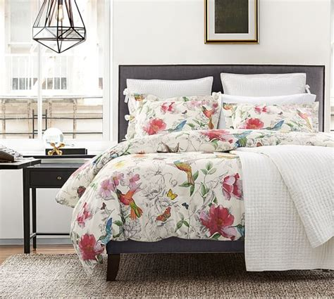 hummingbird reversible duvet cover sham pottery barn