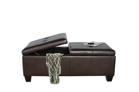 Best Selling Alfred Brown Leather Storage Ottoman Ottoman Furniture History
