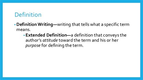 Definition Of Essay by Definition Writing