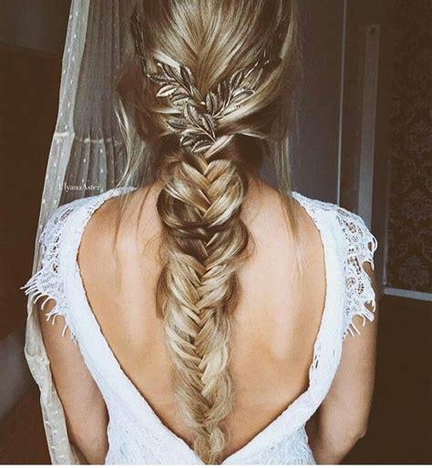 Wedding Hair Braid by Best 25 Fishtail Braid Wedding Ideas On