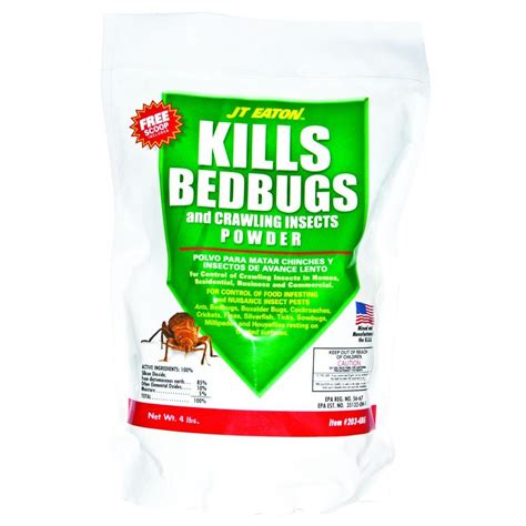 bed bug powder diatomaceous earth jt eaton 4 lbs bedbug and crawling insect powder with