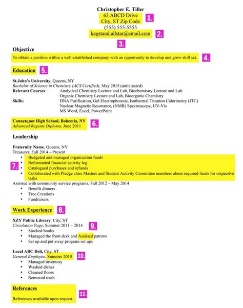 Best Resume Font Business Insider by How To Make A Good Resume For A First Job How To Write A