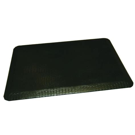 anti fatigue mat kitchen rhino anti fatigue mats comfort craft crocodile black 24 in x 36 in poly urethane anti fatigue