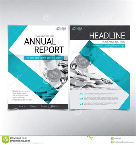 modern business and financial cover page vector template