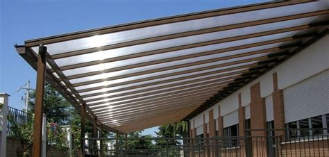 tettoie leggere coperture in plexiglass tettoie e pensiline tipologie