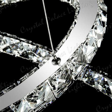 Crystal Chrome Chandelier 3 Ring Led Modern Crystal Chandelier Ceiling Pendant Lighting