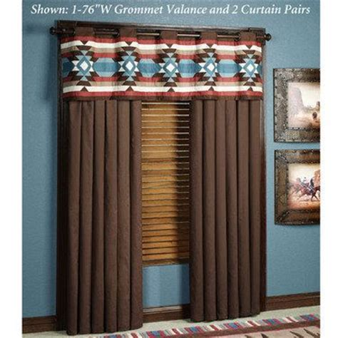southwest style curtains southwest frontier grommet window treatments window