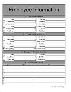 employee information template employee information form click here to this