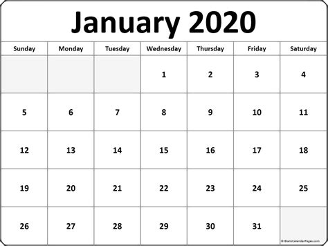january  monthly calendar print january january januarycalendar  weekly