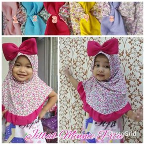 Kerudung Anak 1 Tahun jilbab anak minnie terbaru bahan jersey jilbab instan