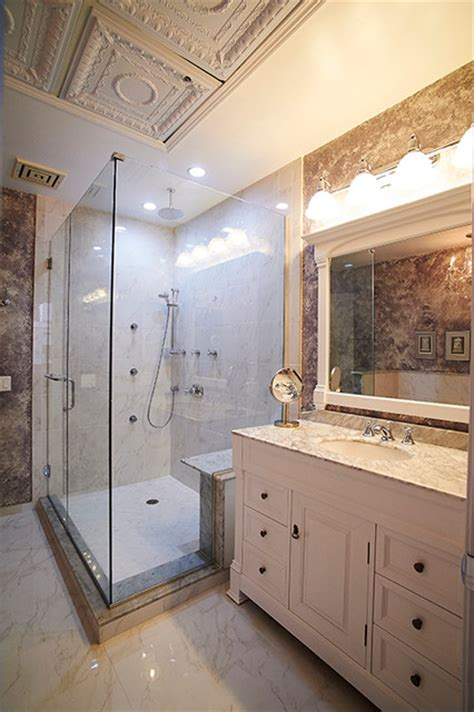 master bathroom remodel in downtown chicago shabby chic style bathroom by new explode