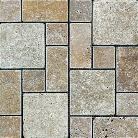 Pattern Tiles Canada   anatolia noce tuscan pattern tumbled mosaics the home