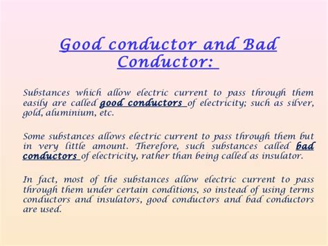 list 6 electrical conductors chemical effects of electric current