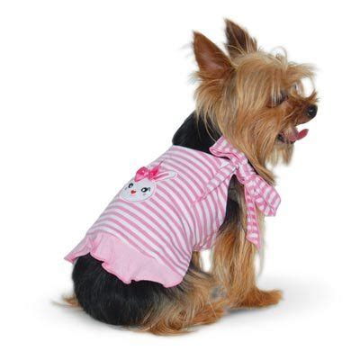 puppy hop bunny hop reversible pink dress clothes at glamourmutt