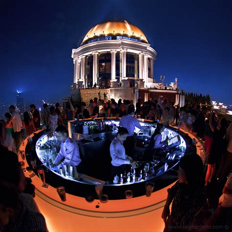 bangkok top bars sirocco the highest sky bar of the world bangkok thailand
