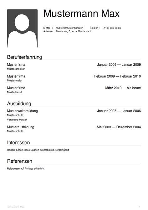 Lebenslauf Schweiz Referenzen Top Tipps Und Vorlagen Images For Tattoos