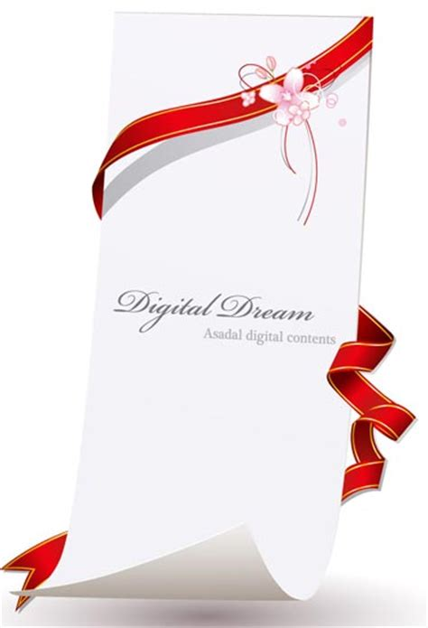 Web Design Software Free invitation cards design with ribbons