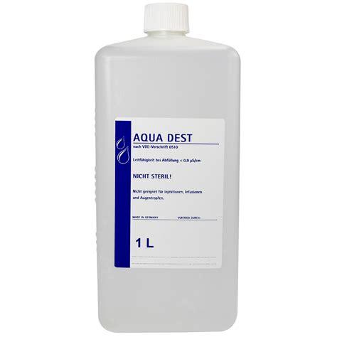 Dest L by Aqua Dest 1 L Destilliertes Wasser Praxisbedarf Op Labor