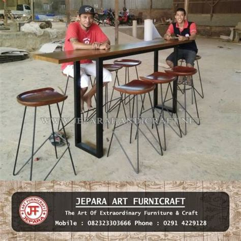 Kursi Bar Kaki Besi Goldfurniturebar Chairsmeja jual set meja kursi bar cafe jati industrial harga murah