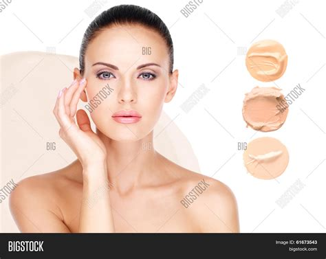 foundation for 58 year old woman model face of beautiful woman with foundation on skin make