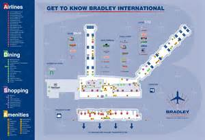 airport map maps bradley international airport