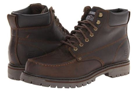 comfortable work boots mens skechers men s comfortable rugged leather work boots