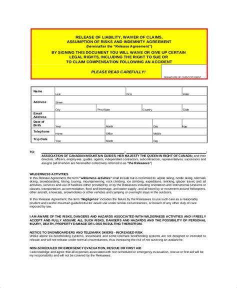 general release of liability form a medical release form