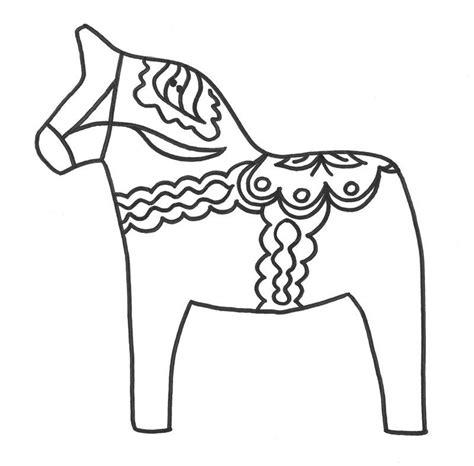 Dala Coloring Page Dala Horse Coloring Page Coloring Home