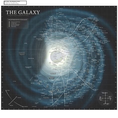 Printable Star Wars Galaxy Map | scheme 9 map to a galaxy far far away
