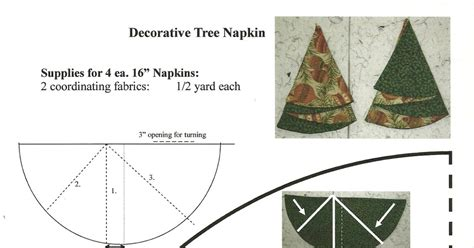 quilters fun christmas tree napkins