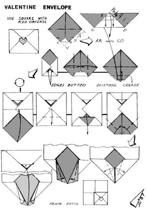 How To Fold A Paper Into A Letter - 50 best letter envelope folding images on
