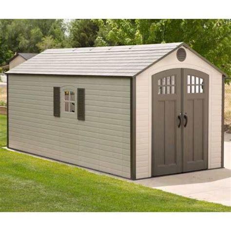 Lifetime Storage Sheds Lifetime Outdoor Storage Shed 60121 8x17 5 2 Windows