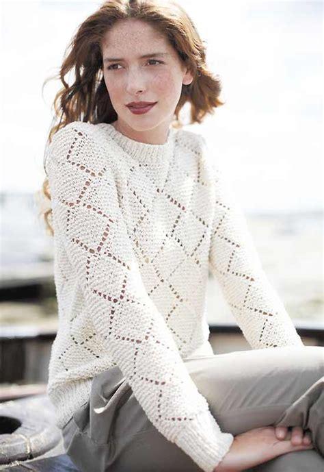 diamond pattern knit sweater knit a diamond lace sweater free knitting pattern