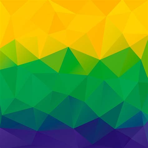 brazil flag colors abstract polygon background brazil flag colors vector