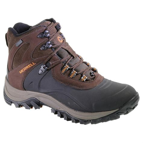 mens hiking boots s merrell iceclaw waterproof 200 gram insulated mid