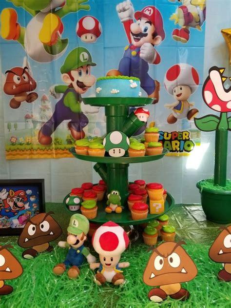 Mario Bros 41 41 mejores im 225 genes de decoraci 243 n cumplea 241 os en