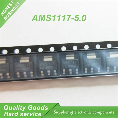 Ams1117 5 0v Regulator aliexpress buy 50pcs ams1117 5 0 ams1117 5 0v 1a sot