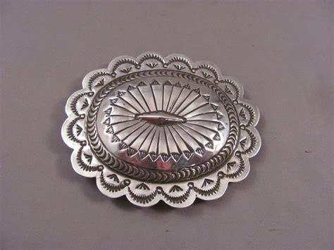 Handmade Silver Belt Buckles - navajo handmade sterling silver belt buckle by carson