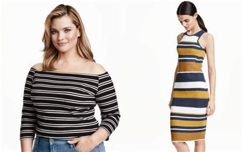 striped dresses for curvy clothing from h m
