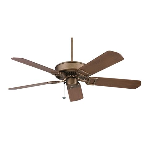 Lowes Outdoor Ceiling Fans by Shop Fanimation Edgewood 50 In Aged Bronze Outdoor Downrod