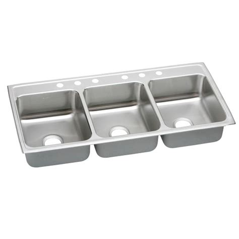 three bowl kitchen sink elkay lustertone drop in stainless steel 46 in 6 bowl kitchen sink ltr46226 the