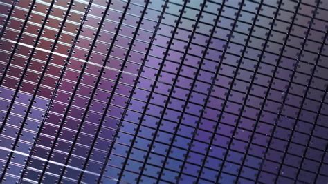 Wafer Top macro of silicon wafers low dof 库存影片视频 35001910