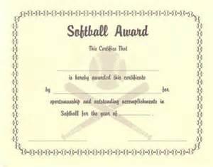 softball certificate templates softball certificate